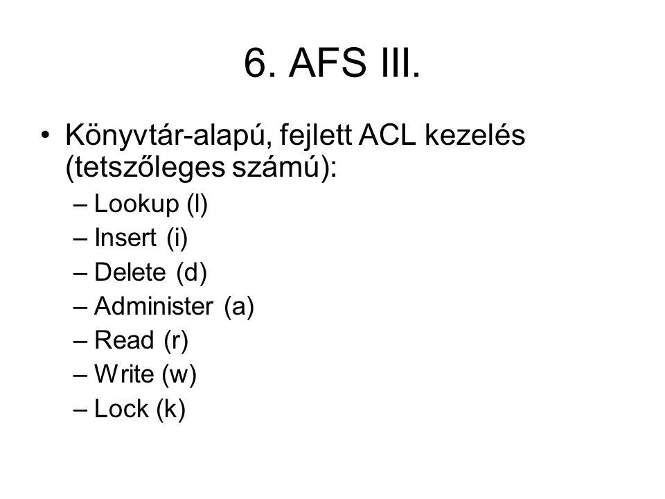 6.AFS III.