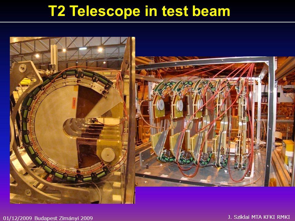 01/12/2009 Budapest Zimányi 2009 J. Sziklai MTA KFKI RMKI T2 Telescope in test beam