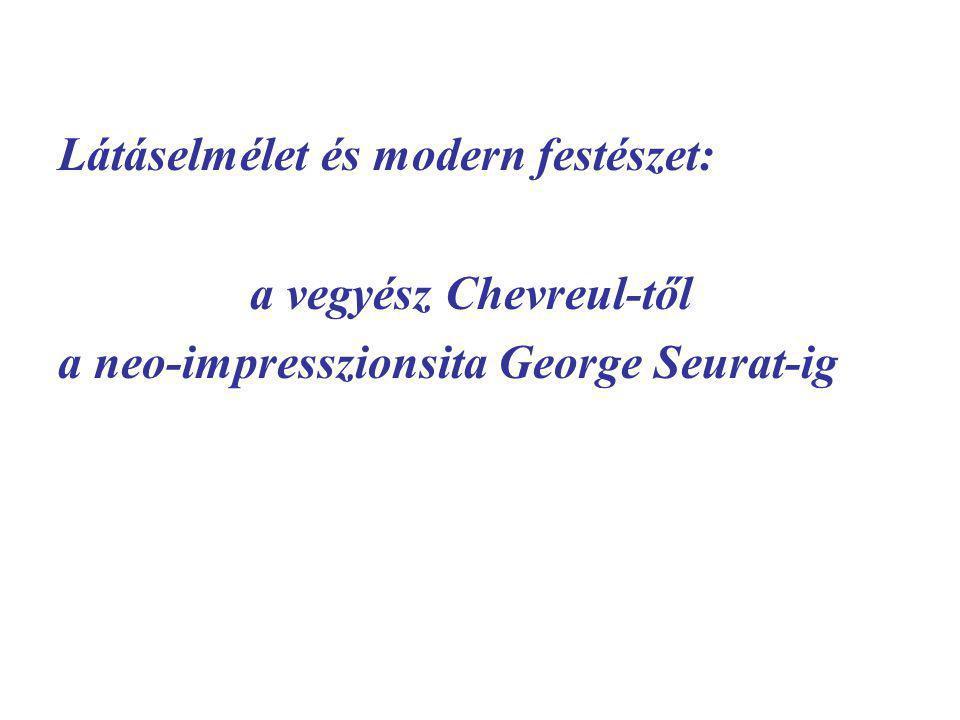 Látáselmélet és modern festészet: a vegyész Chevreul-től a neo-impresszionsita George Seurat-ig