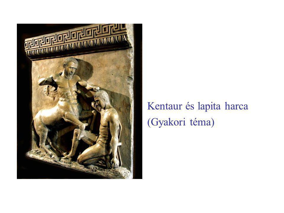 Kentaur és lapita harca (Gyakori téma)