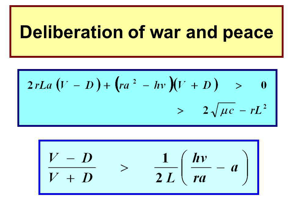 Deliberation of war and peace