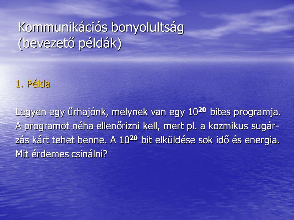 Kommunikációs bonyolultság (bevezető példák) 1.