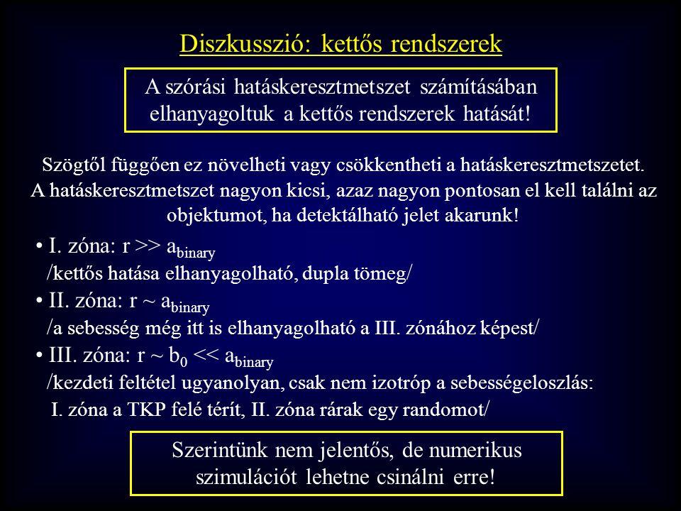 Diszkusszió: kettős rendszerek I.
