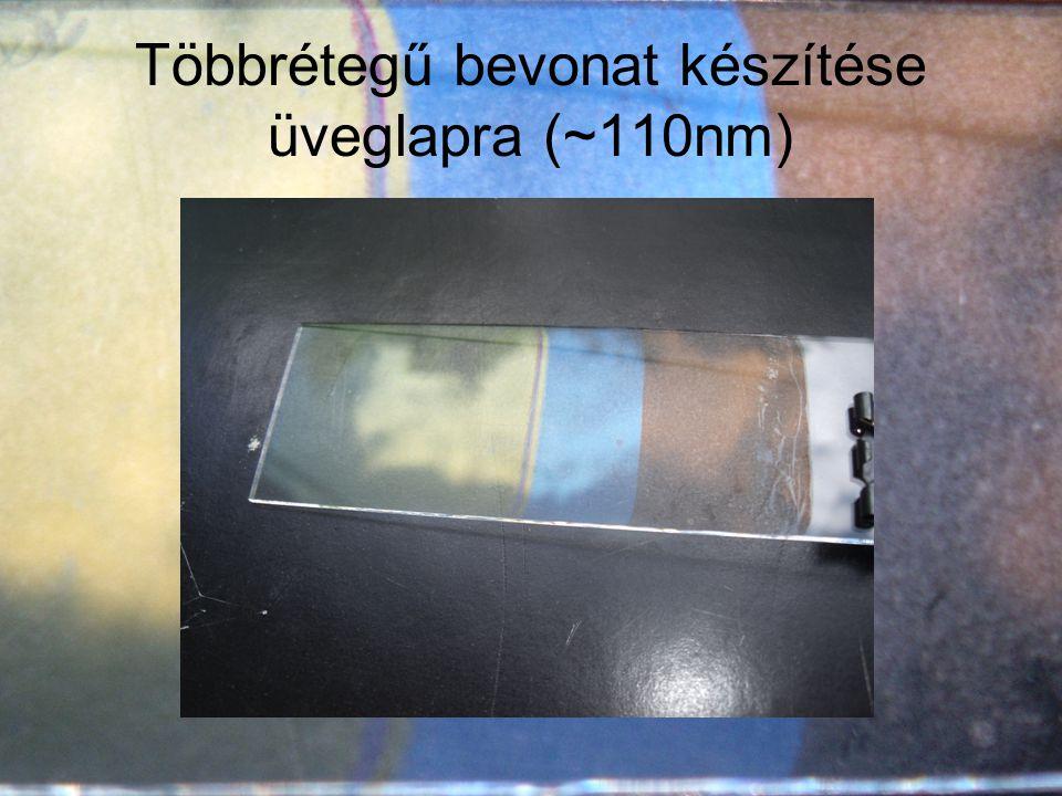 Többrétegű bevonat készítése üveglapra (~110nm)