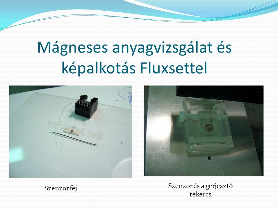 Mágneses anyagvizsgálat és képalkotás Fluxsettel Szenzor és a gerjesztő tekercs Szenzor fej