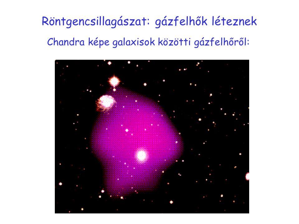 Röntgencsillagászat: gázfelhők léteznek Chandra képe galaxisok közötti gázfelhőről: