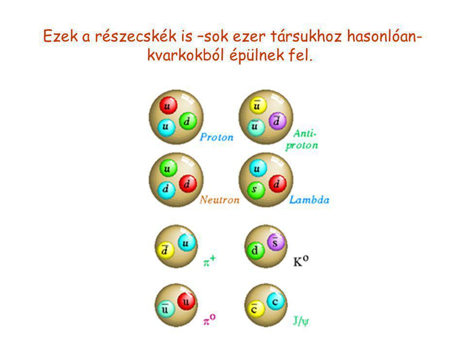Ezek a részecskék is –sok ezer társukhoz hasonlóan- kvarkokból épülnek fel.