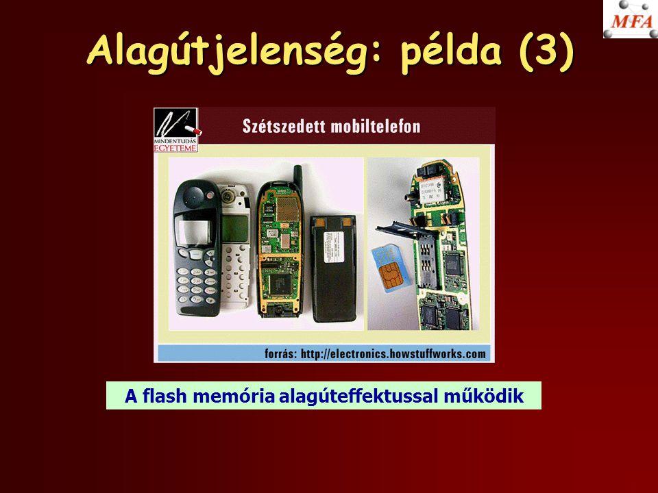 Alagútjelenség: példa (3) A flash memória alagúteffektussal működik