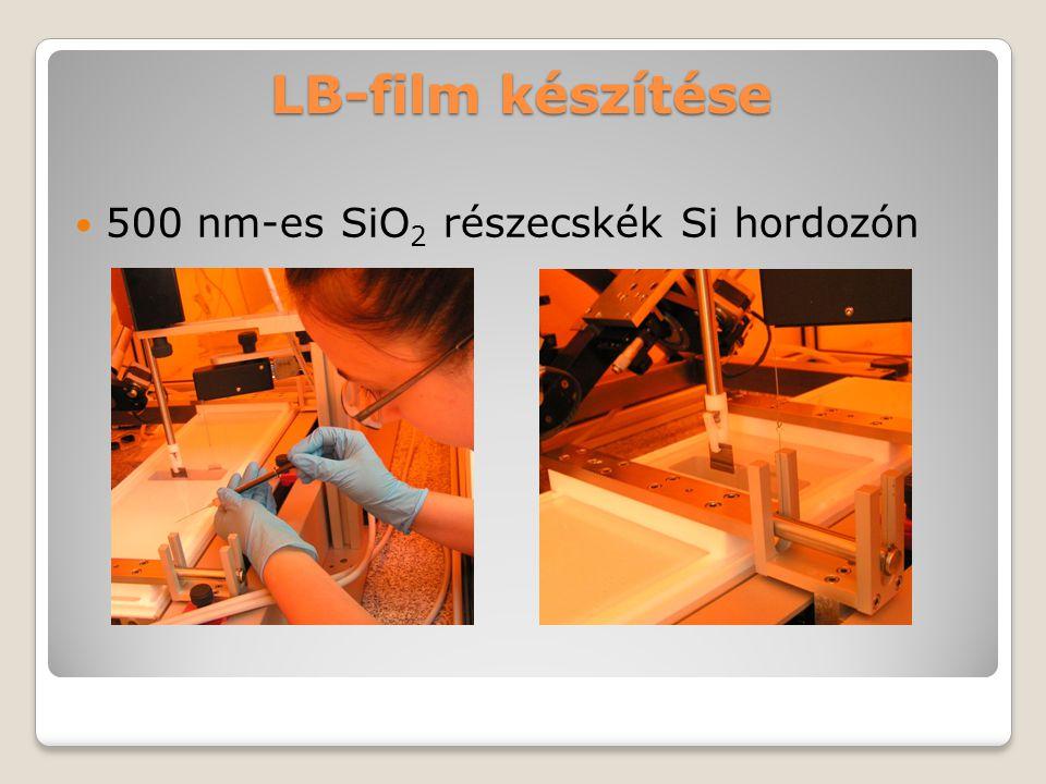 LB-film készítése 500 nm-es SiO 2 részecskék Si hordozón