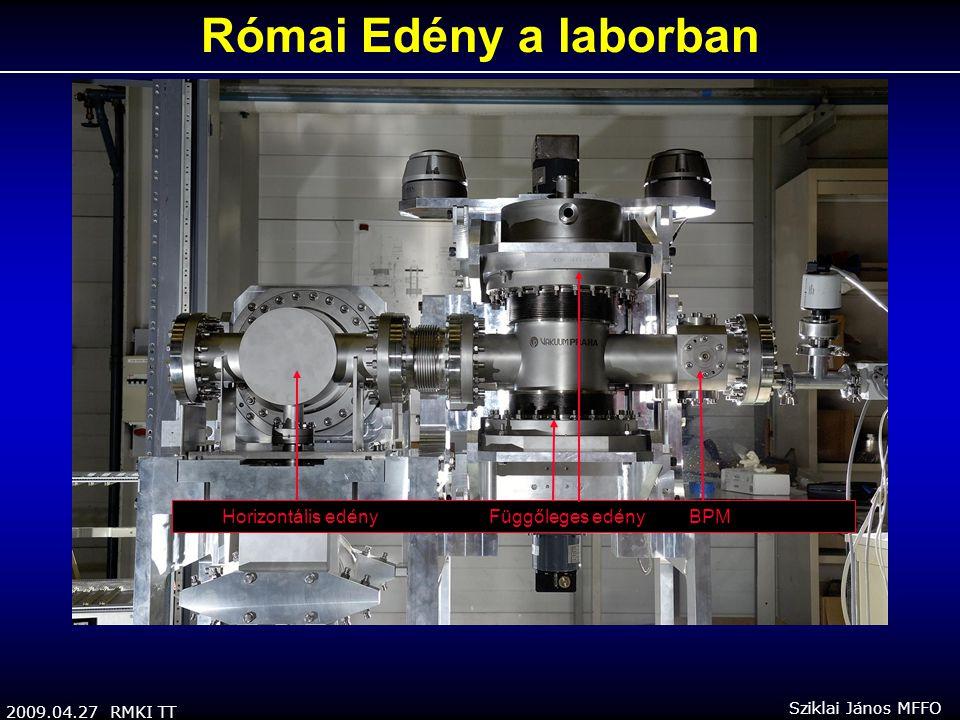 2009.04.27 RMKI TT Sziklai János MFFO Horizontális edény Függőleges edény BPM Római Edény a laborban