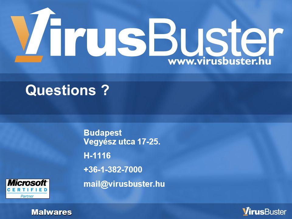 Zero-Hour Virus Outbrake Detection Questions . Budapest Vegyész utca 17-25.