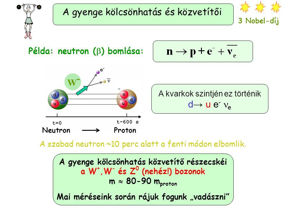 kvark Az erős kölcsönhatás és közvetítői: a gluonok.