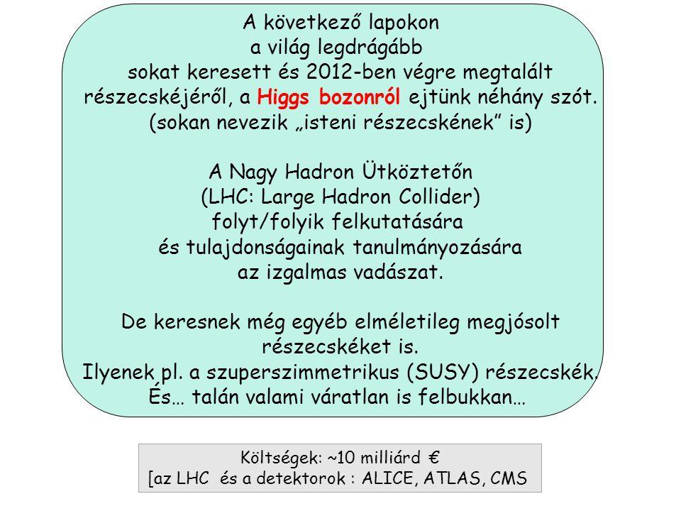 Kvarkok Leptonok Közvetítő Bozonok A Standard modell alapjai: anyagi részecskék (fermionok:kvarkok és leptonok) és a kölcsönhatások közvetítő részecsk