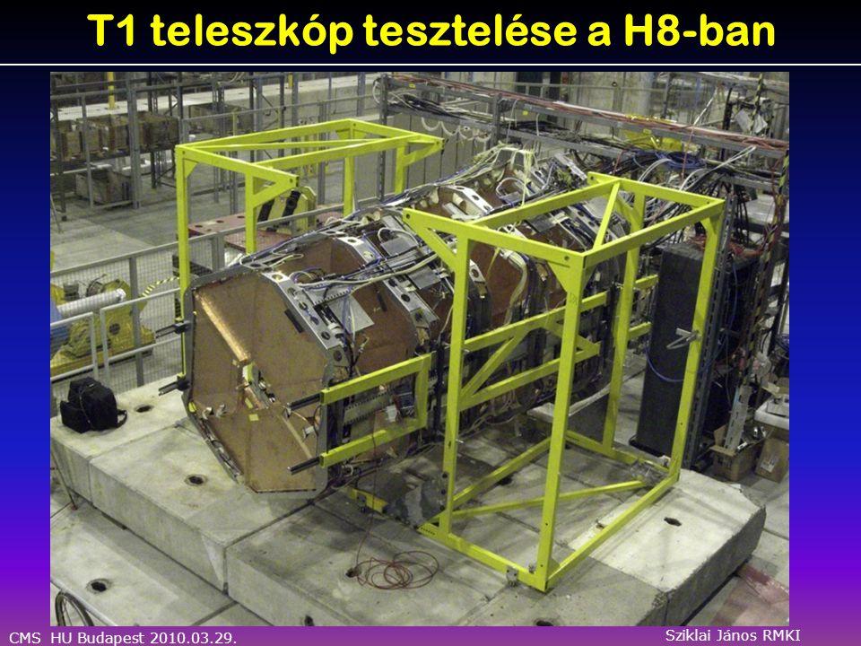 CMS HU Budapest 2010.03.29. Sziklai János RMKI T1 teleszkóp tesztelése a H8-ban