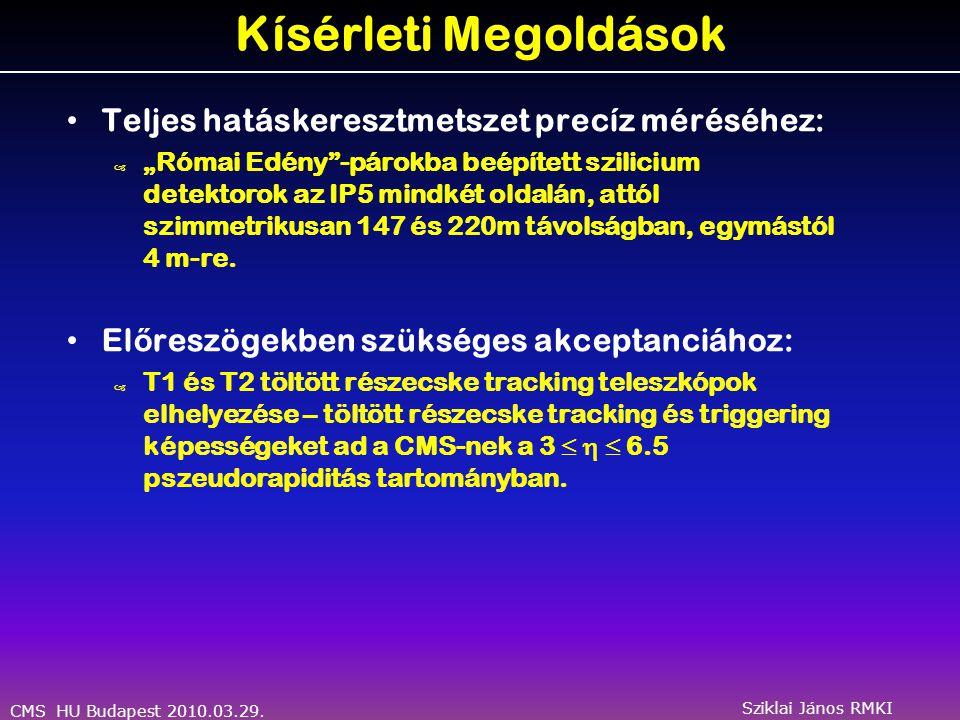 CMS HU Budapest 2010.03.29. Sziklai János RMKI T2 Teleszkóp a teszt nyalábban