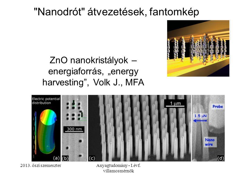 2013. őszi szemeszterAnyagtudomány - I.évf. villamosmérnök