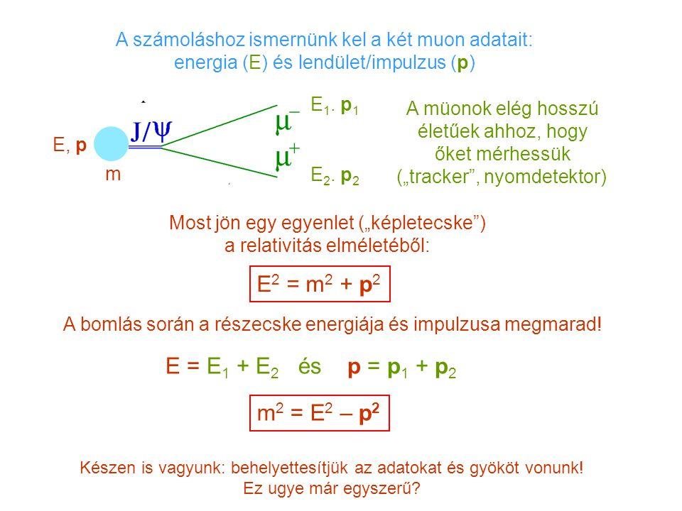 Említettük már, hogy a gyorsítókban keletkező részecskék többsége igen rövid életű (~10 -21 – 10 -23 sec) Legtöbbjük még egy atomnyi méretnek megfelelő távolságot sem fut be élete során és más részecskékbe elbomlik (nincs olyan detektor ami jelezni tudná).