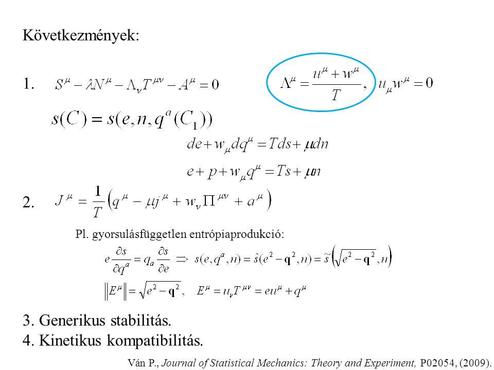 Liu-eljárás: - Konstitutív függés redukciója - Lendületmérleg is kényszer! - Tetszőleges áramlás Termodinamika elemzés: – alapváltozók: – konstitutív