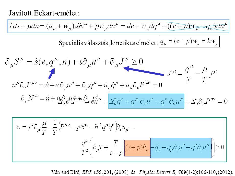 Következmények: 1. 2. 3. Generikus stabilitás. 4. Kinetikus kompatibilitás. Pl. gyorsulásfüggetlen entrópiaprodukció: Ván P., Journal of Statistical M