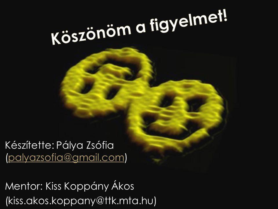 Készítette: Pálya Zsófia (palyazsofia@gmail.com)palyazsofia@gmail.com Mentor: Kiss Koppány Ákos (kiss.akos.koppany@ttk.mta.hu)