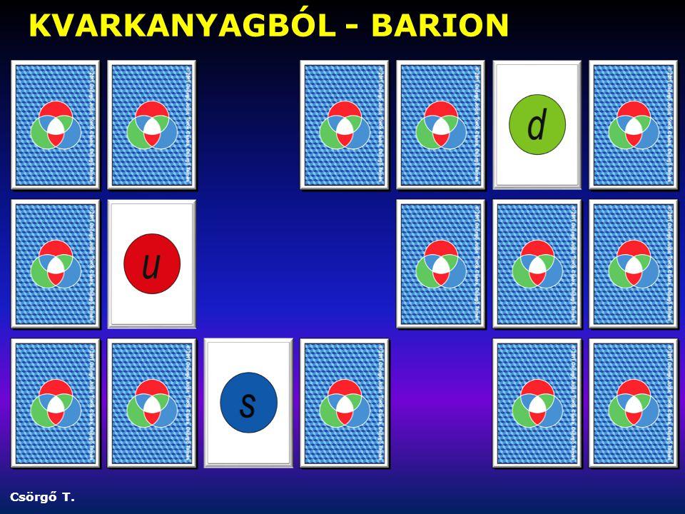 Csörgő T. KVARKANYAGBÓL - BARION