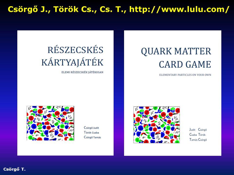 Csörgő J., Török Cs., Cs. T., http://www.lulu.com/ Csörgő T.