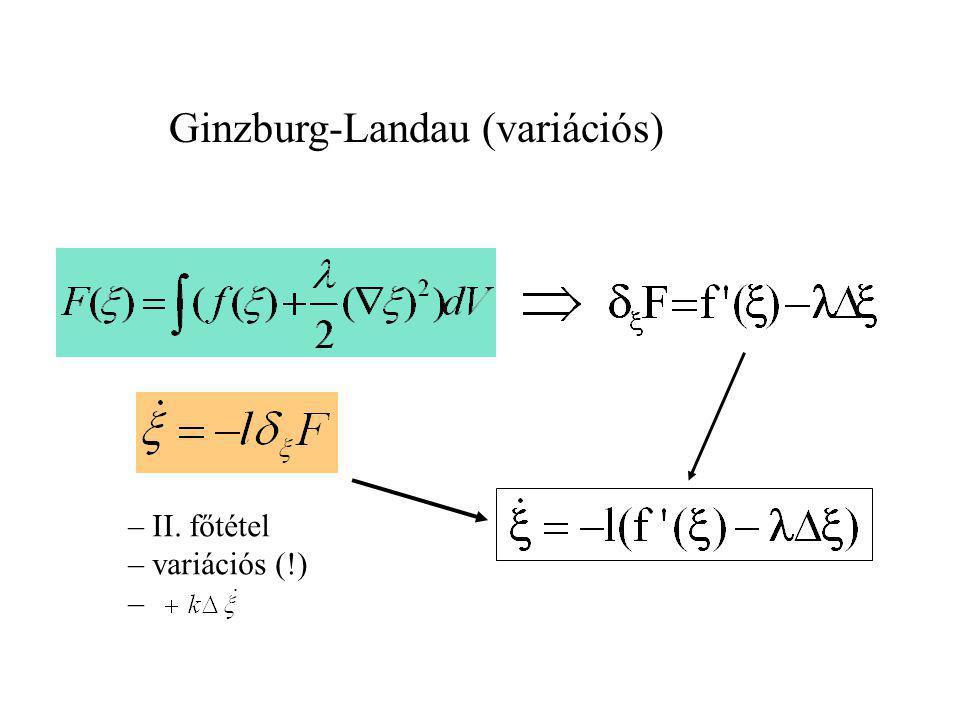 mérlegek – állapottér: – konstitutív tér: – anyagfüggvények: gyengén nemlokális Második főtétel: Anyagelmélet Módszer: Liu eljárás - Farkas lemma - La
