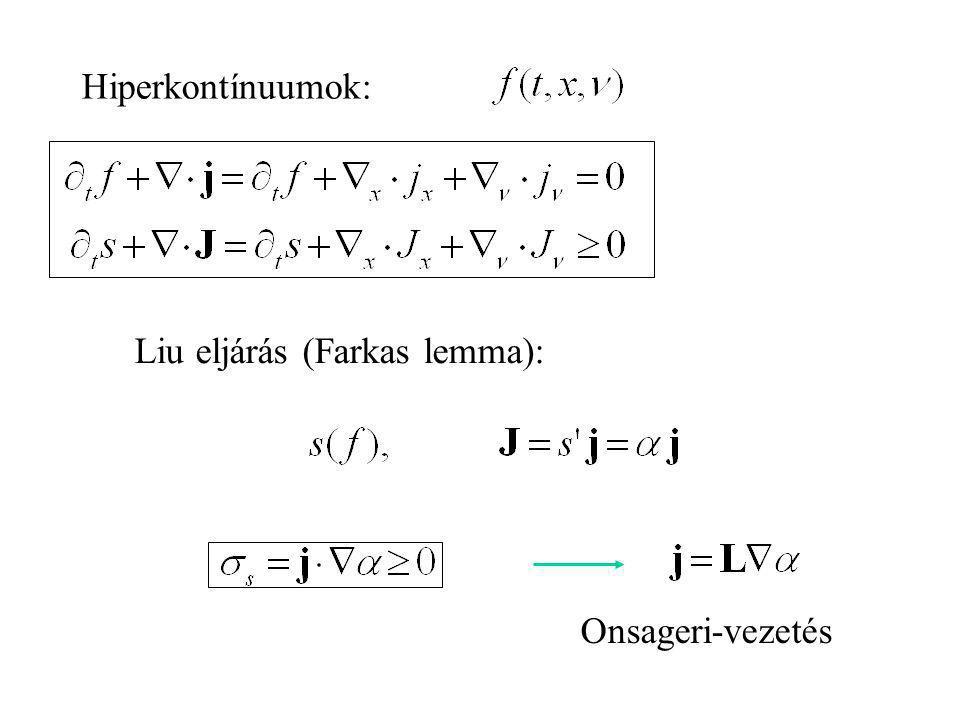 Mezo-termo – eloszlás változók folytonos index eloszlás: Fizikai jelentés: - tömeg QGP - sebesség: