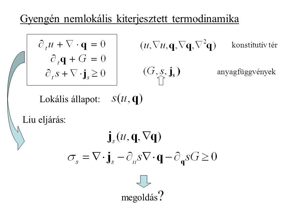 Hővezetés Fourier Maxwell-Cattaneo