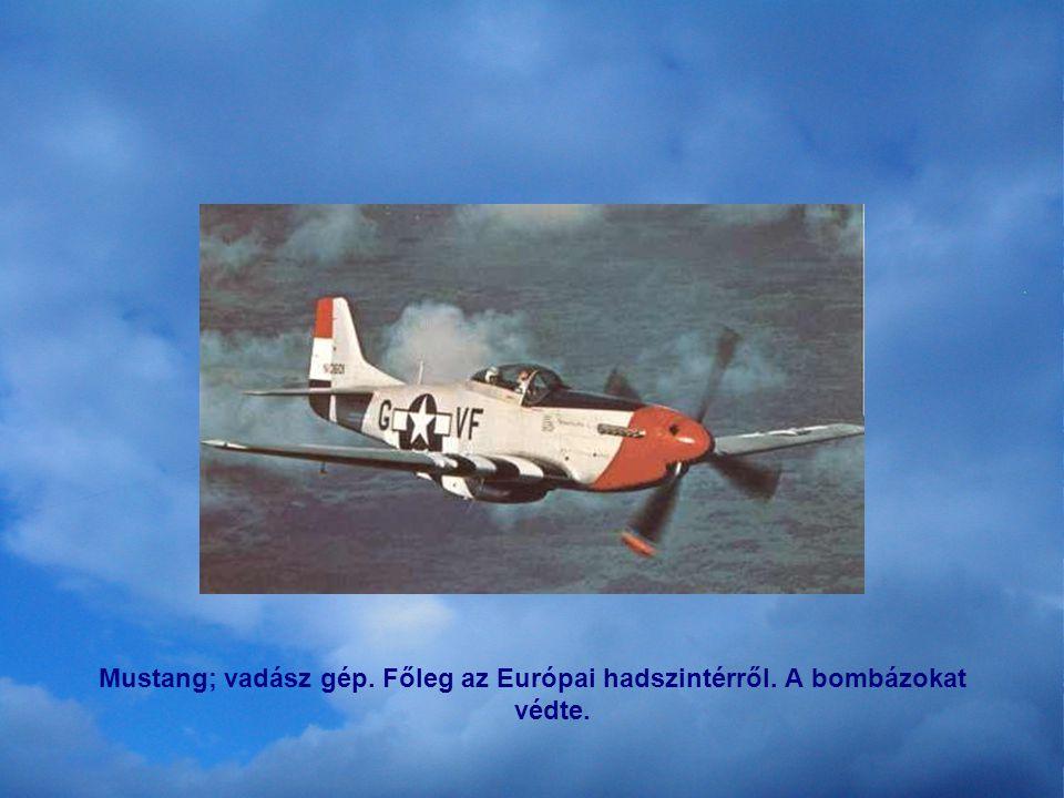 P-47 Tunderbolt. Aerial Combat. Főleg Európa felett a Messerschmidtek ellen harcolt.