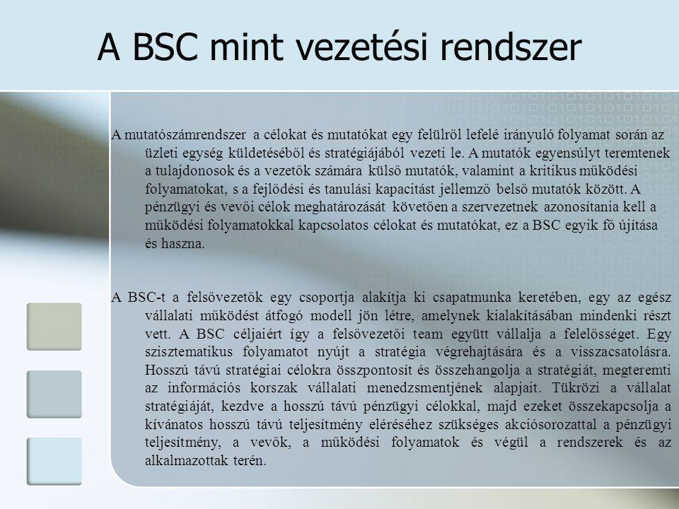 Miért van szükség a BSC-re.
