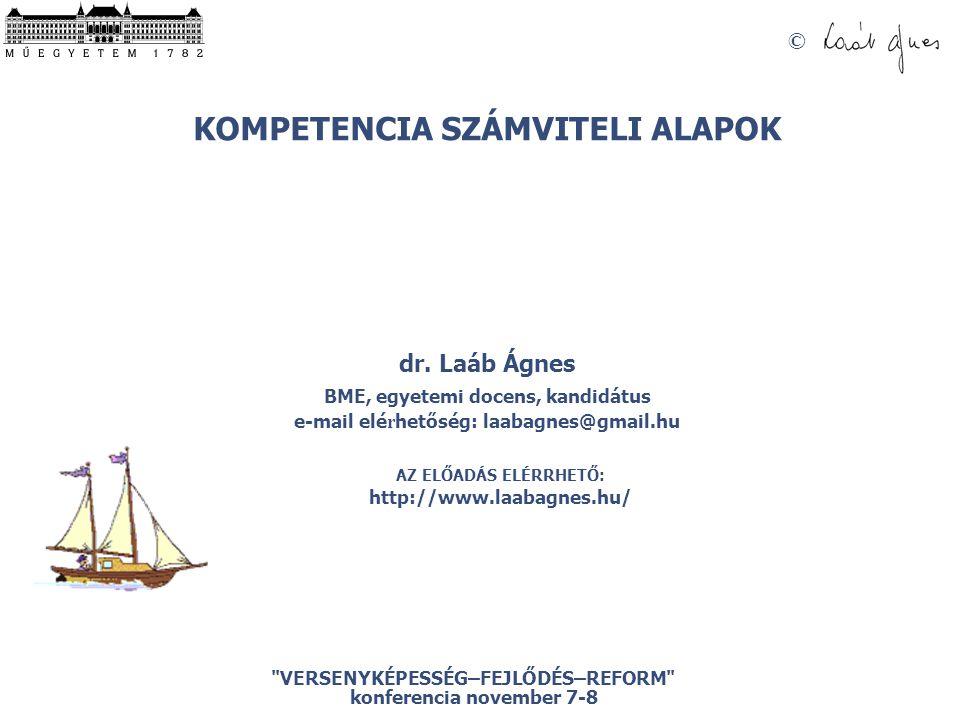 © VERSENYKÉPESSÉG–FEJLŐDÉS–REFORM konferencia november 7-8 KOMPETENCIA SZÁMVITELI ALAPOK dr.