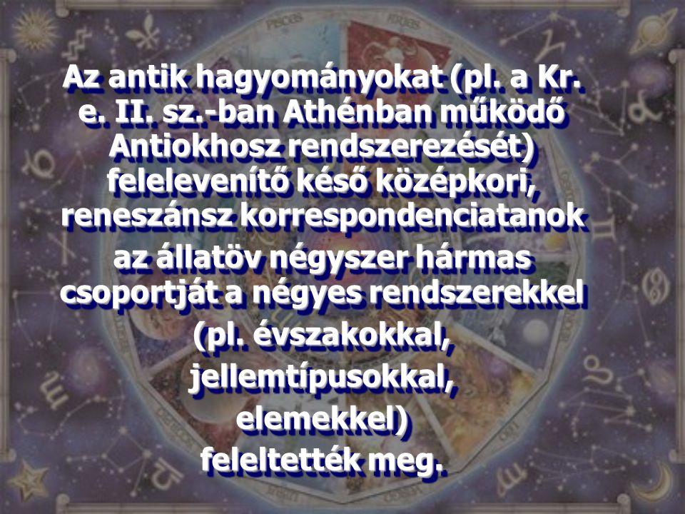 Az antik hagyományokat (pl. a Kr. e. II. sz.-ban Athénban működő Antiokhosz rendszerezését) felelevenítő késő középkori, reneszánsz korrespondenciatan