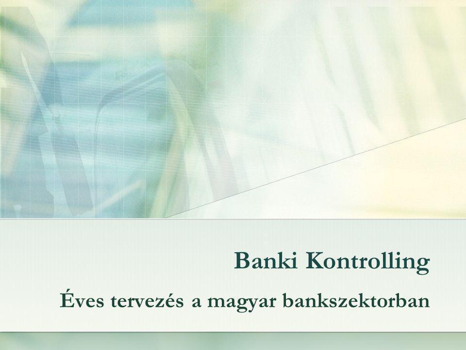 Áttekintés Kontroller helye banki környezetben Kontroller feladatai egy bankban A tervezés alapvető céljai A KPI-k kialakításának szempontjai A tervezés folyamata MNB CIB Monitoring Konklúzió
