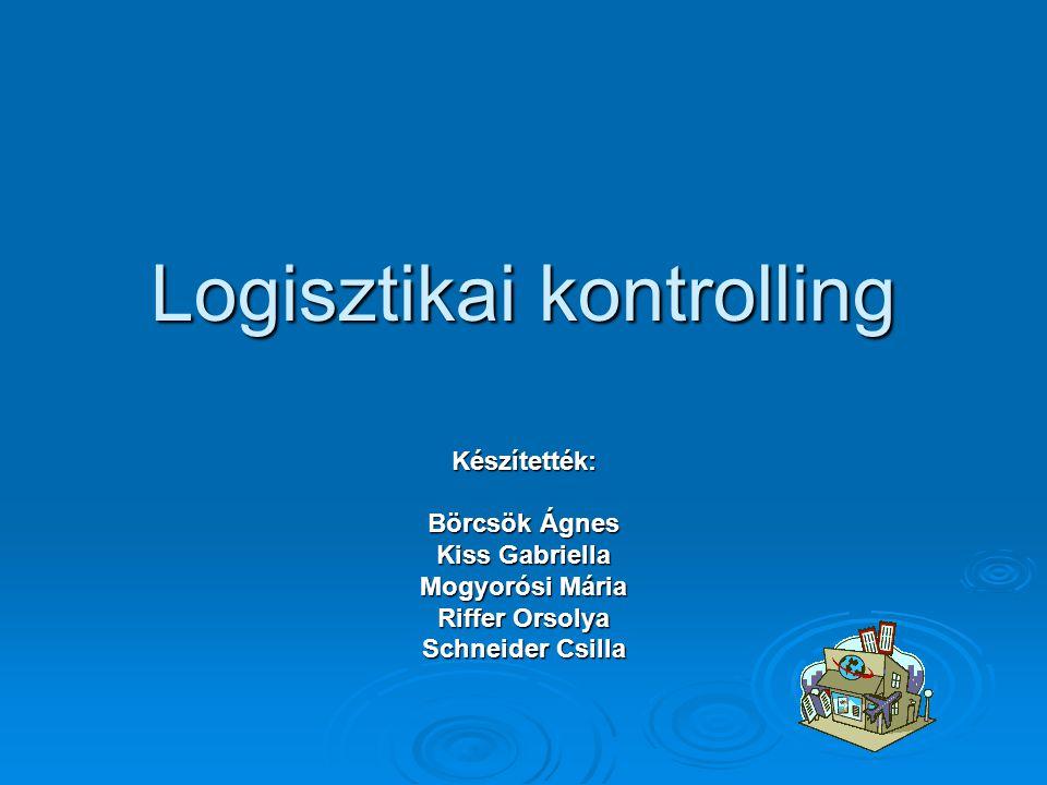 A logisztika –kontrolling tevékenységei  Célkitűzés, tervezés  Tényhelyzet mérése  Terv-tény eltérés elemzése  Beavatkozás, intézkedés  Eredmények ellenőrzése, visszamérés