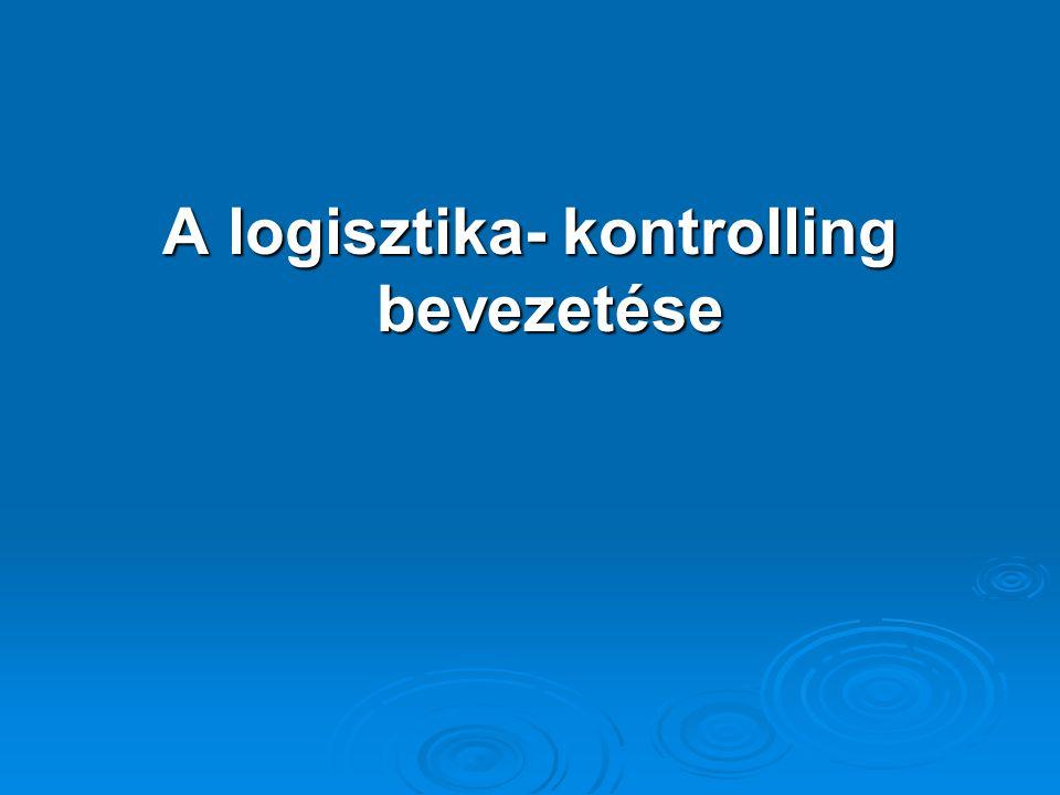 A vállalat jelenlegi helyzetét és jövőbeni kilátásait meghatározó tényezők :  a logisztikai rendszer fejlettségi szintje  a logisztika versenypolitikai jelentősége a vállalat számára  a kontrolling filozófia  a költségszámítás helyzete és fejlesztési elképzelései