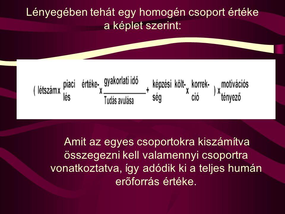 3. A saabrückeni képlet A legjújabb módszer a humán erőforrás értékelésére, a humán tőke nagyságát befolyásoló hatások számszerűsítésére szolgál