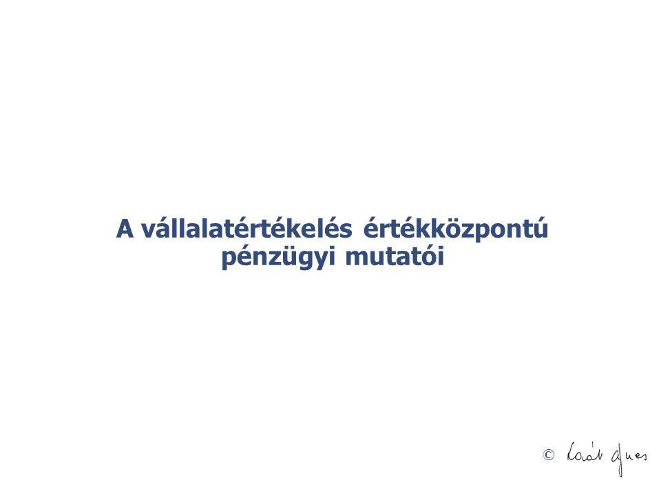 © A vállalatértékelés értékközpontú pénzügyi mutatói