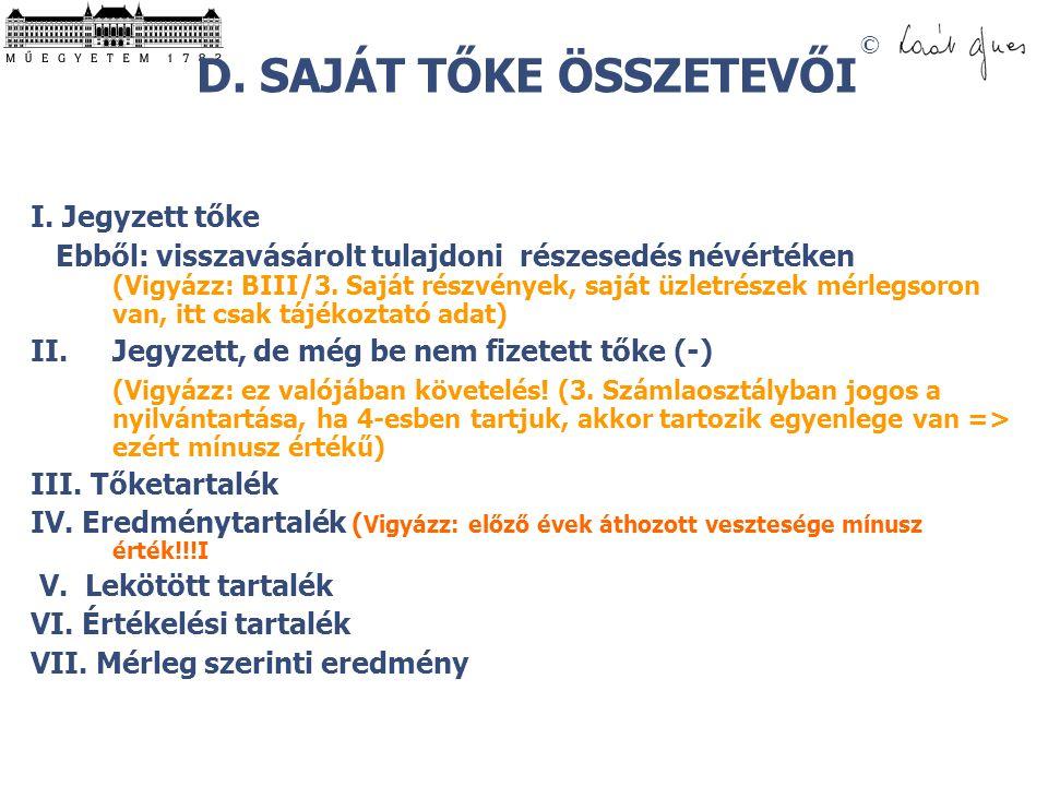 © D.SAJÁT TŐKE ÖSSZETEVŐI I.