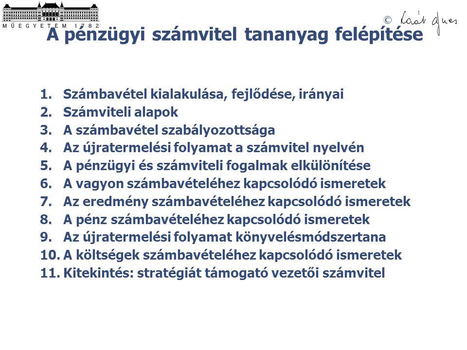 SZÁMVITEL © - A SZÁMBAVÉTEL FEJLŐDÉSE –