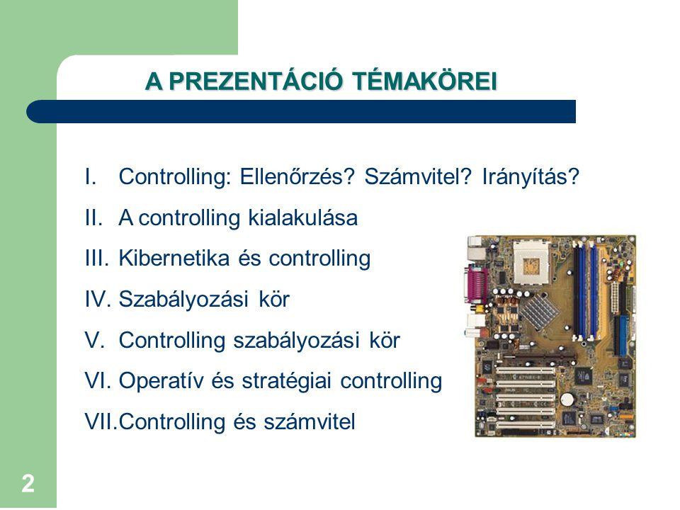 2 I.Controlling: Ellenőrzés.Számvitel. Irányítás.