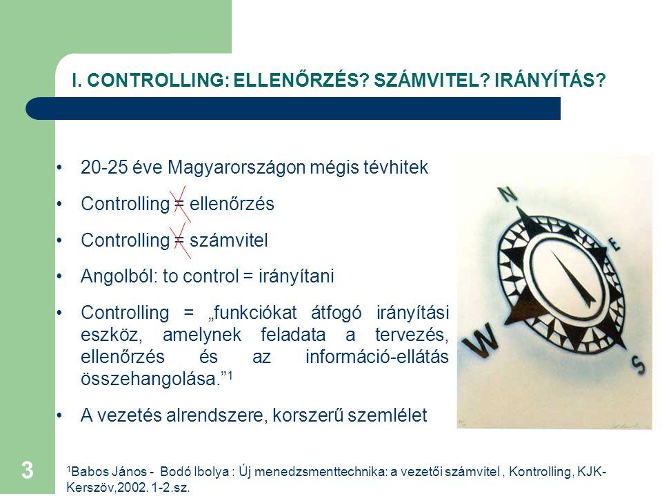 3 I.CONTROLLING: ELLENŐRZÉS. SZÁMVITEL. IRÁNYÍTÁS.
