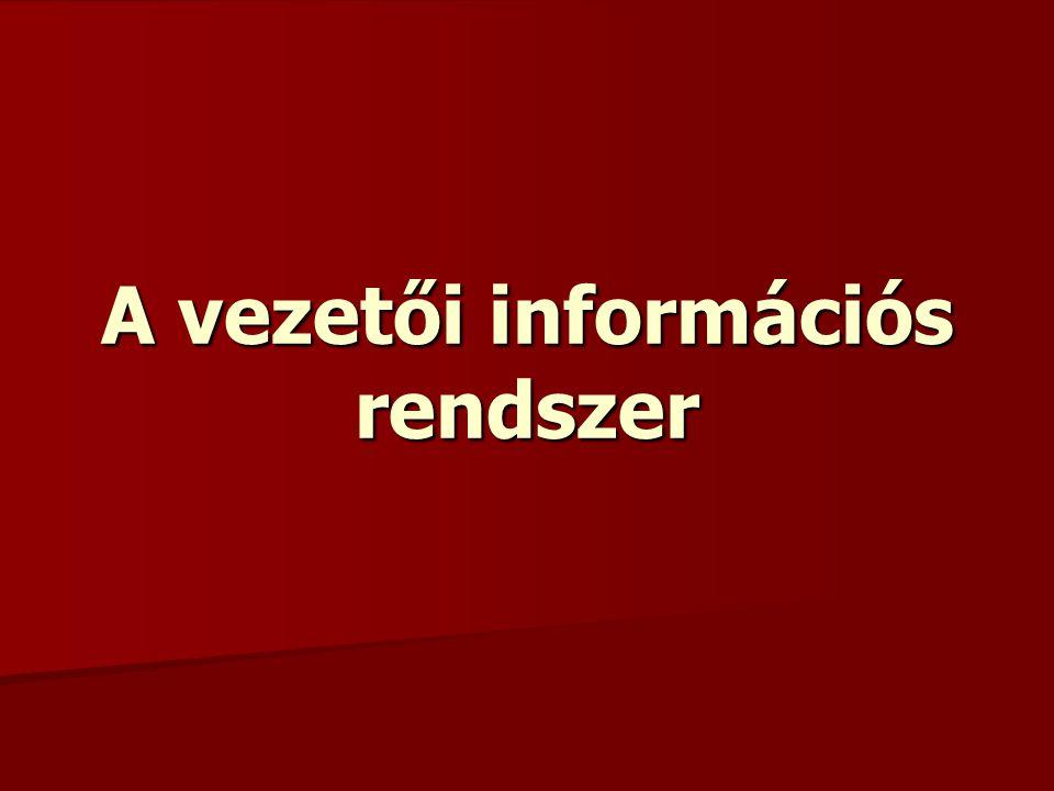 A vezetői információs rendszer