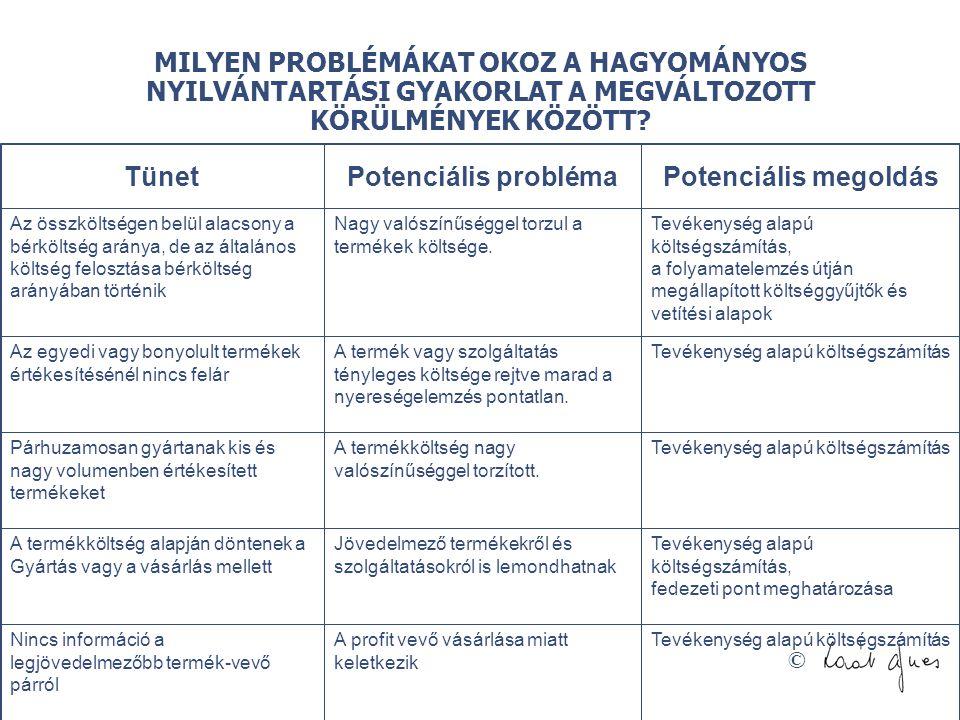 © MILYEN PROBLÉMÁKAT OKOZ A HAGYOMÁNYOS NYILVÁNTARTÁSI GYAKORLAT A MEGVÁLTOZOTT KÖRÜLMÉNYEK KÖZÖTT? TünetPotenciális problémaPotenciális megoldás Az ö