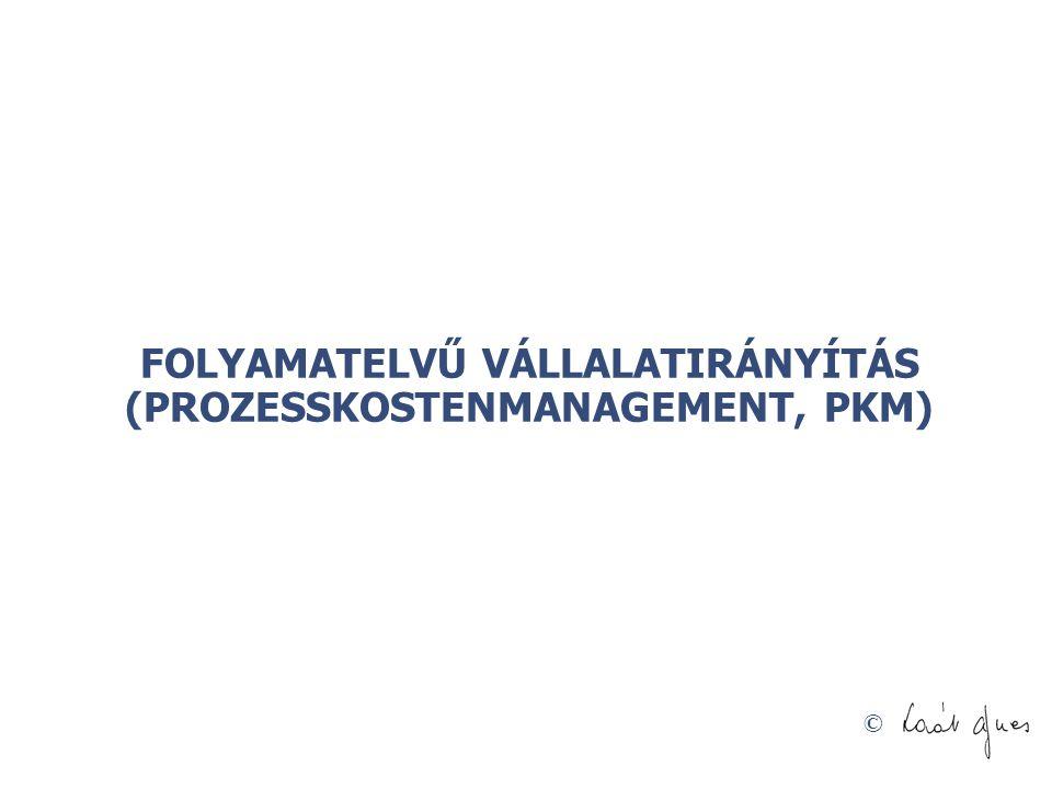 © FOLYAMATELVŰ VÁLLALATIRÁNYÍTÁS (PROZESSKOSTENMANAGEMENT, PKM)