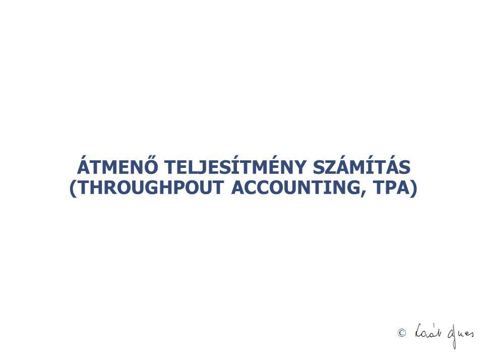 © ÁTMENŐ TELJESÍTMÉNY SZÁMÍTÁS (THROUGHPOUT ACCOUNTING, TPA)