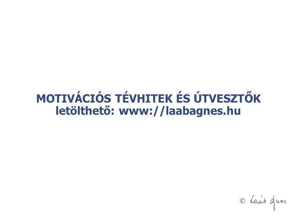 © MOTIVÁCIÓS TÉVHITEK ÉS ÚTVESZTŐK letölthető: www://laabagnes.hu