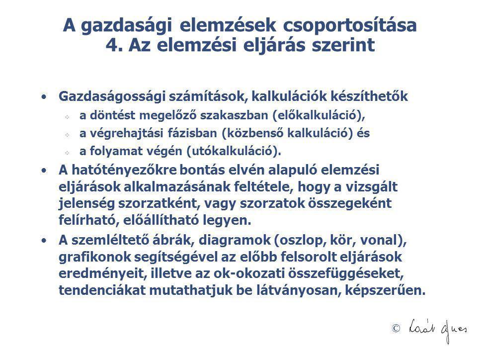 © A gazdasági elemzések csoportosítása 5.