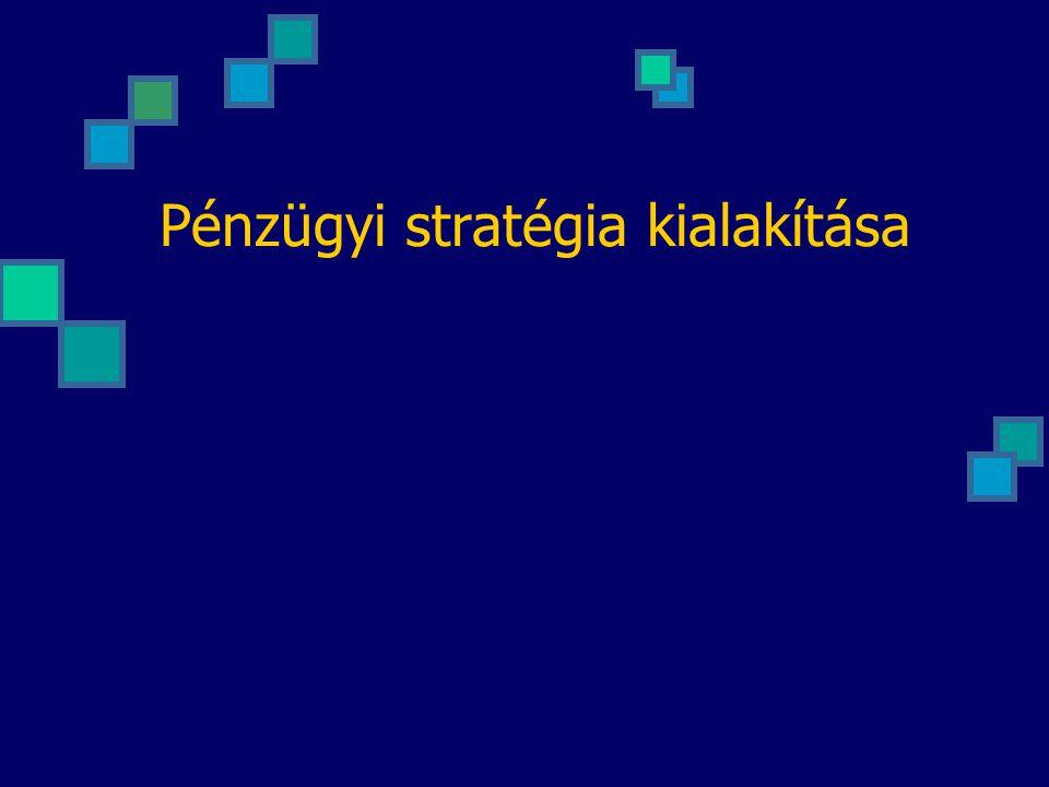 Pénzügyi stratégia kialakítása