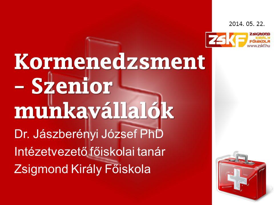 Dr. Jászberényi József PhD Intézetvezető főiskolai tanár Zsigmond Király Főiskola 2014. 05. 22.
